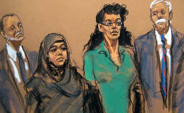 NYC Bombing women courtroom sketch_133185
