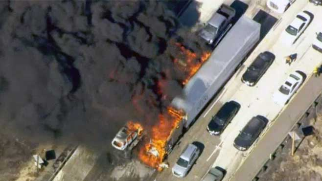 California wildfire Interstate 15_155689