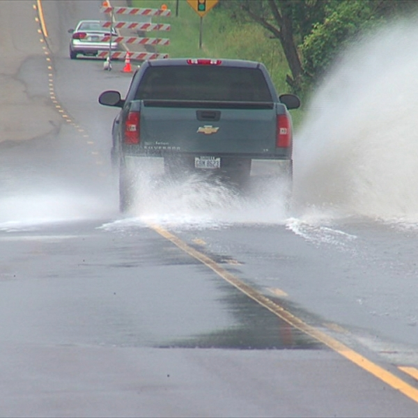 Route 165 flooding_152412