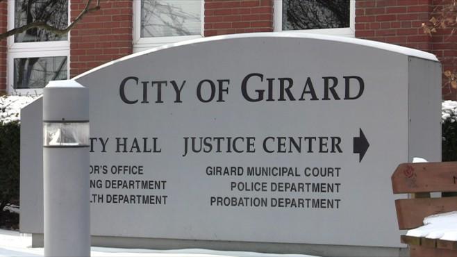City of Girard sign