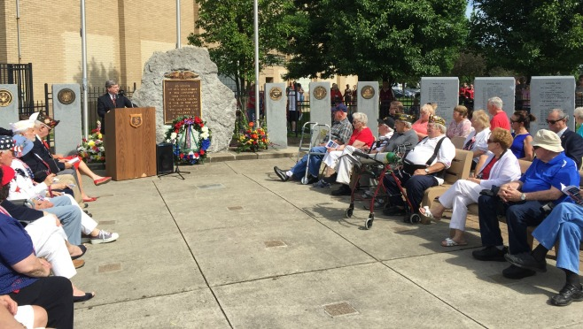 Three new monuments were unveiled outside of the high school on Monday by the Struthers Fallen Soldier Project. The monuments honor 74 men -- all from Struthers -- who died while in service.