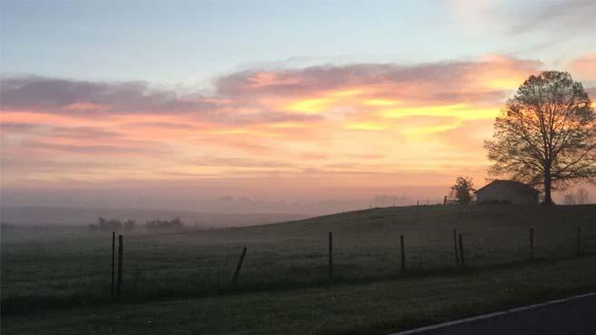 sunrise on the farm_244083