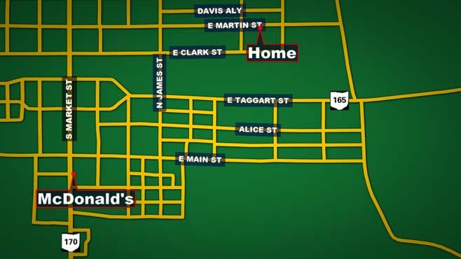 McDonald's drive map