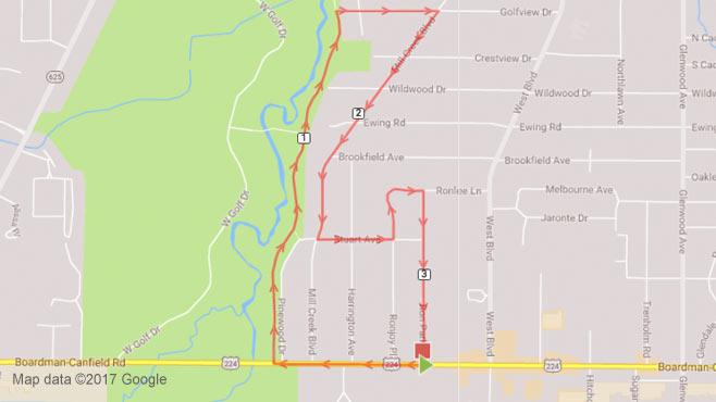 Youngstown Marathon map