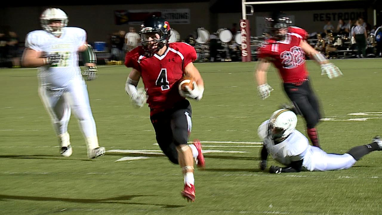 Powered by three Paul Brienz touchdowns, Canfield beat Lakeside 35-6 on Friday.