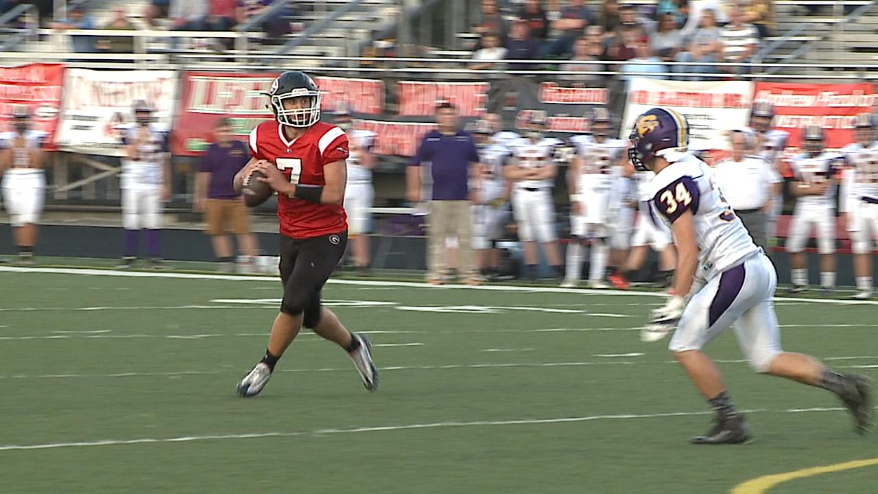 Girard's Mark Waid had another big night as his Indians are perfect on the year after a win over Champion Friday.