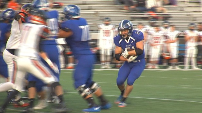 Poland's offense jumped out to a quick start and never let up, as the Bulldogs beat Marlington 51-14 on Friday.
