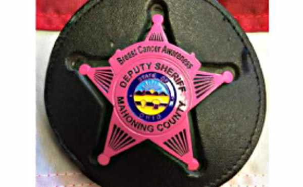 mahoning county sheriff pink badge_432741