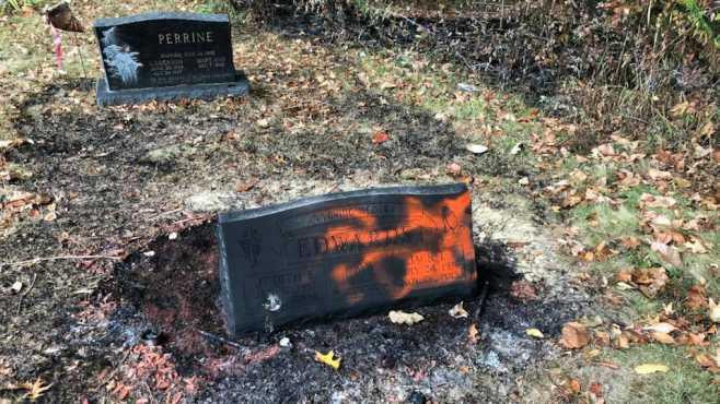Pulaski Township grave vandalism_434444
