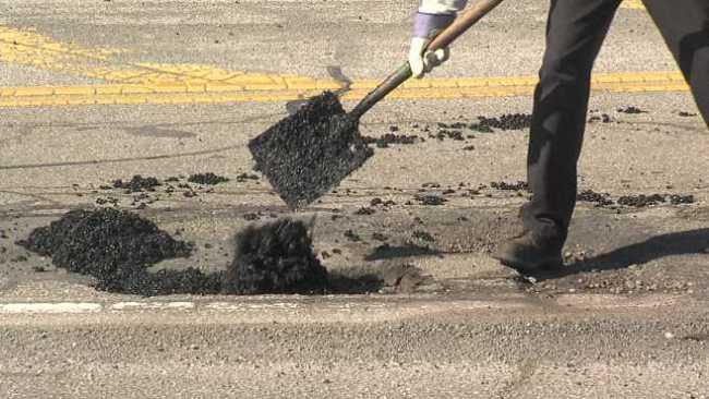 Mahoning County pothole patching