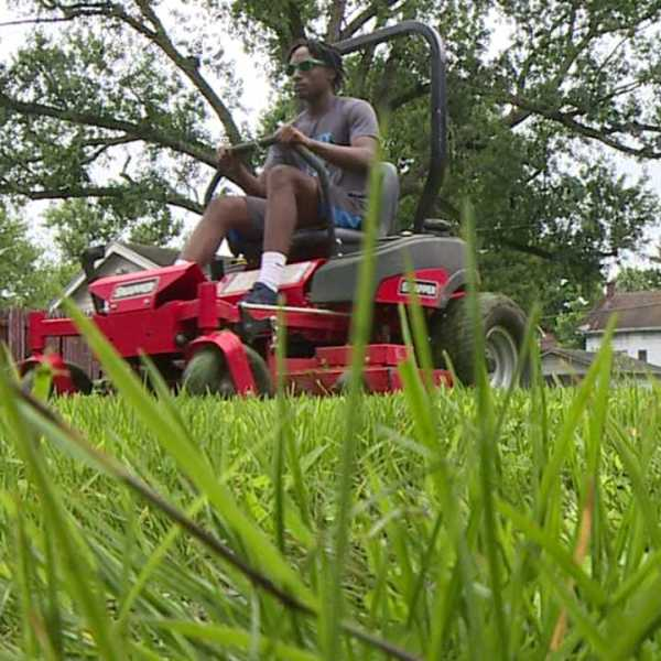Grass cutting program through the Mahoning County Land Bank for Youngstown teens