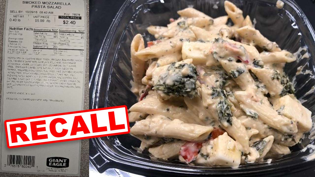 Giant Eagle – Smokey Mozzarella Pasta Salad Recall