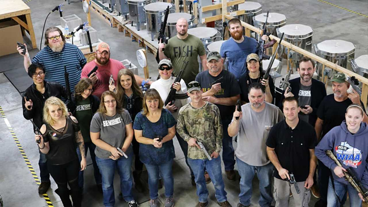Wisconsin company BenShot gives employees guns for Christmas