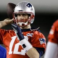 Tom Brady Patriots Rams Super Bowl Football