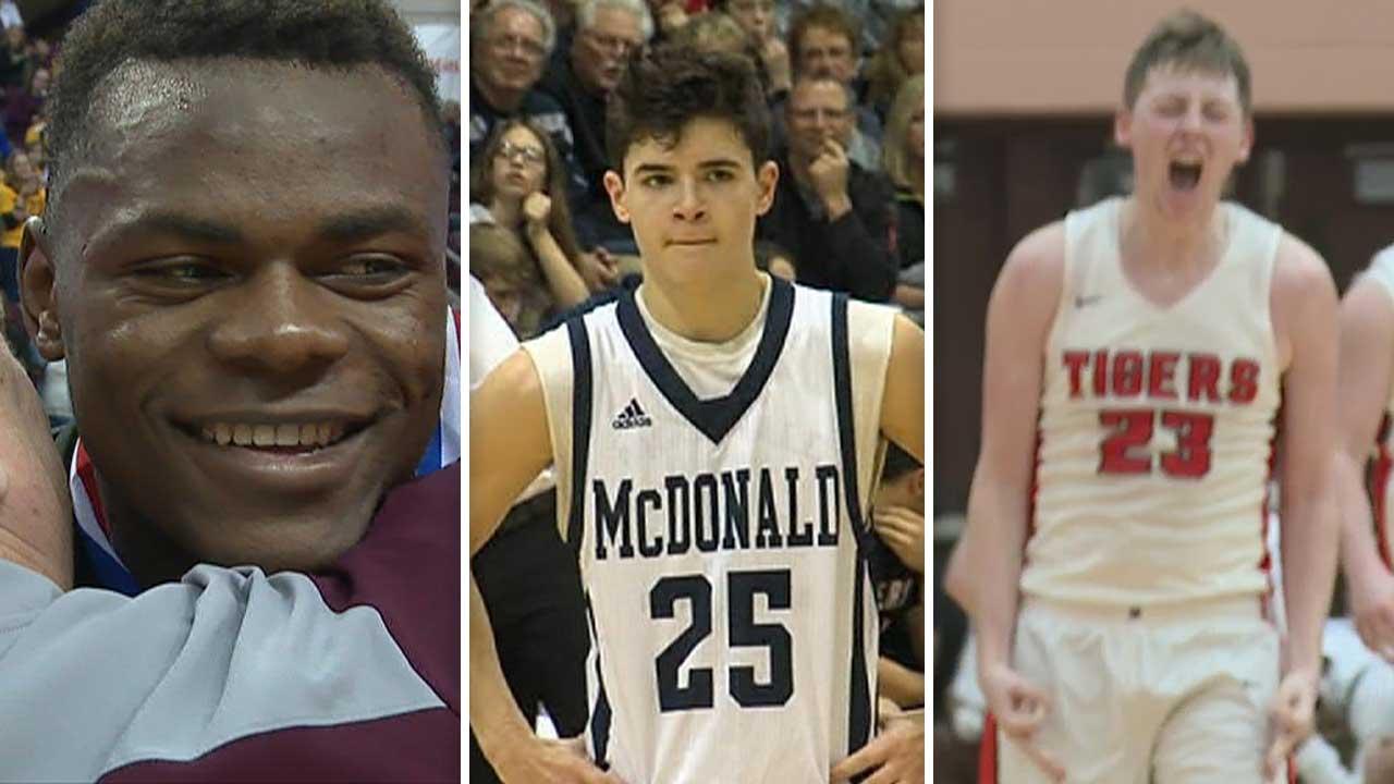 Oscar Tshiebwe, Zach Rasile and Ethan Porterfield – High School Basketball