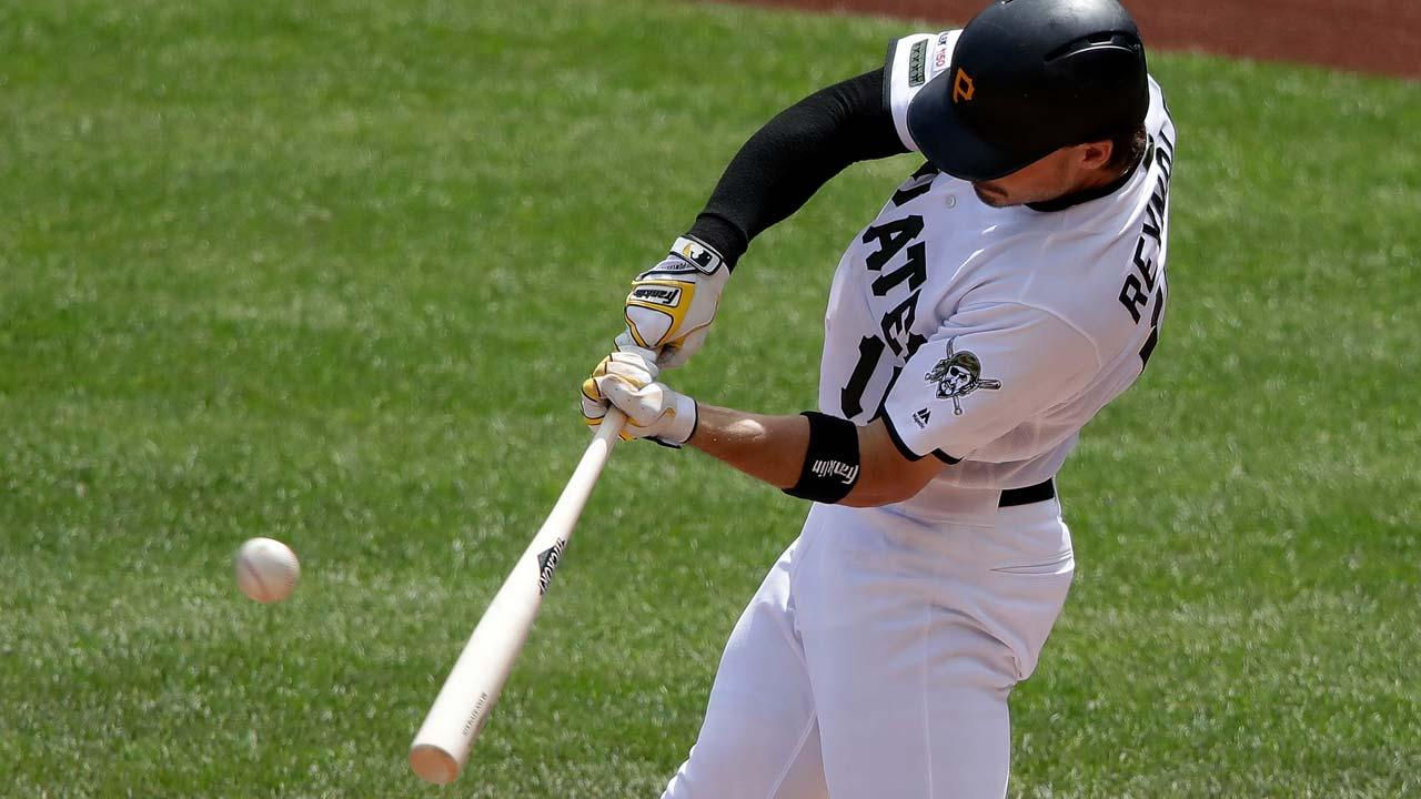 Pittsburgh Pirates' Bryan Reynolds, three-run home run