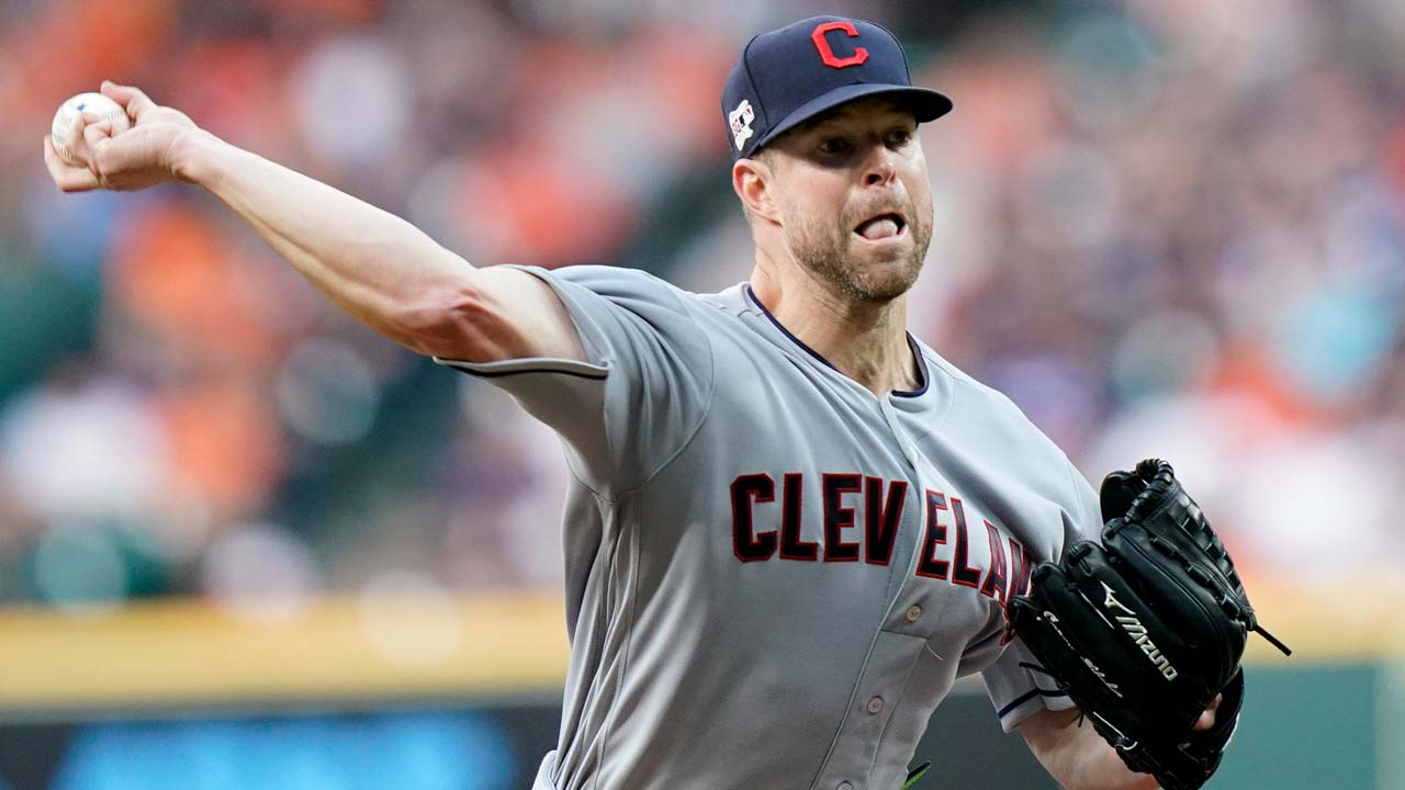 Cleveland Indians starting pitcher Corey Kluber