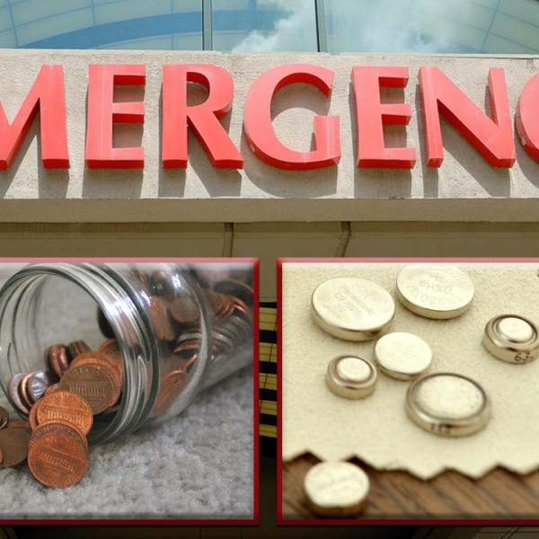 Emergency Room Visits Swallowing Small Objects