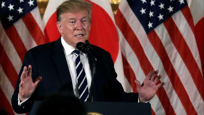 President Donald Trump in Japan