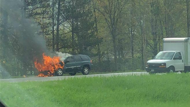 Route 11 SUV fire