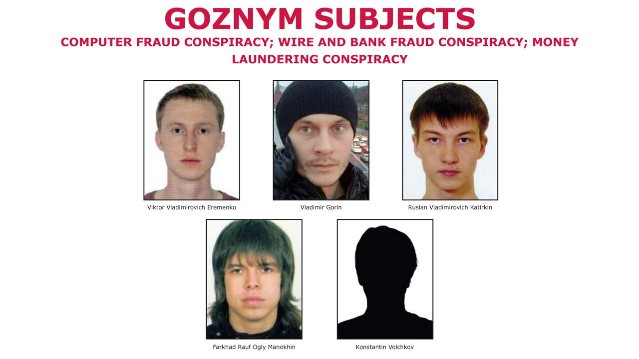 Five Russian fugitiveshave been charged in connection with malicious software attacks