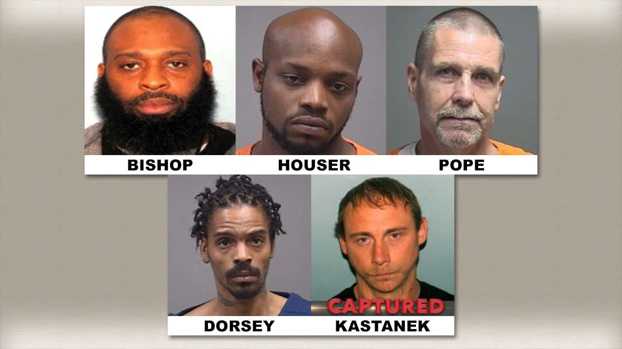 Sean Bishop, Jamar Houser, David Pope, William Dorsey, Robert Kastanek, top fugitives update