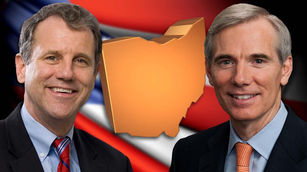 Ohio State Senators Sherrod Brown and Rob Portman
