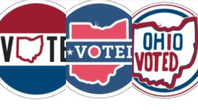 "Three finalists have been picked for the Ohio ""I Voted"" sticker contest"