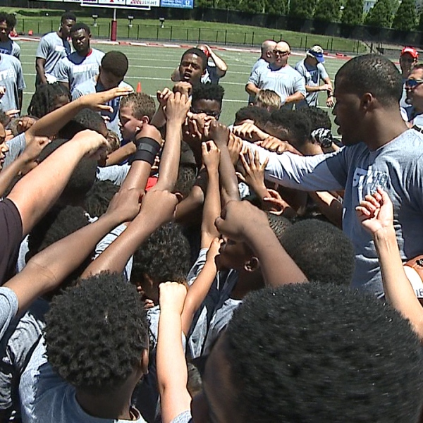 Brad Smith, a 2001 Chaney graduate, hosted his 12th annual True Foundation football camp Saturday