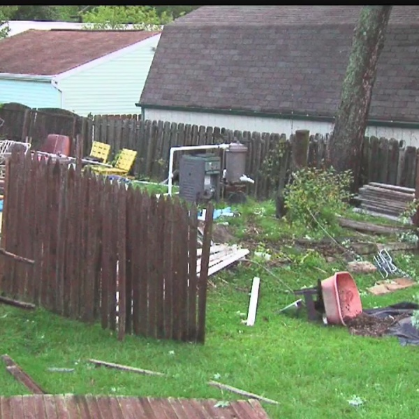 Tod Ave in Warren storm damage