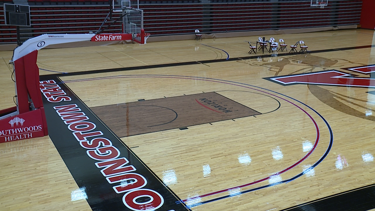 Going the distance: YSU paints new 3-point lines after ...