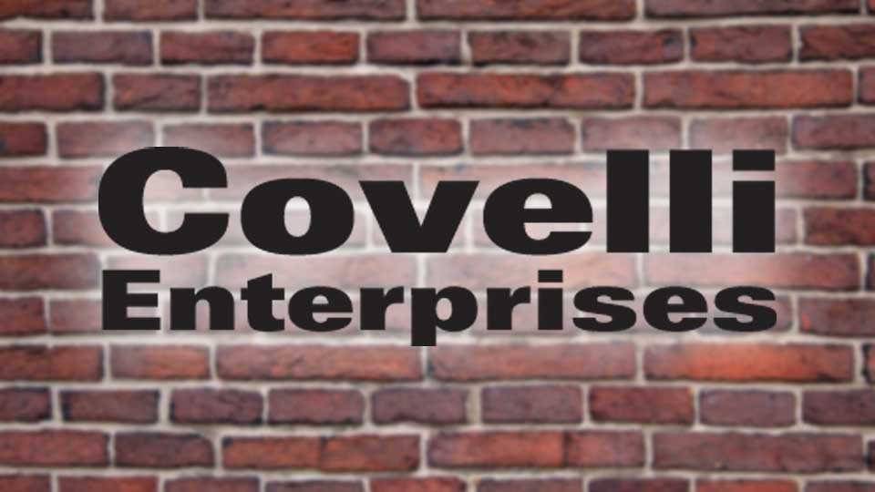 The logo of Covelli Enterprises, based in Warren, Ohio.