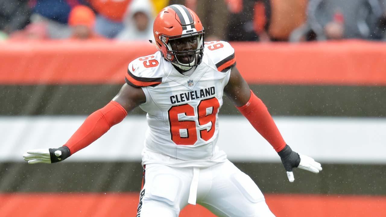 Cleveland Browns offensive tackle Desmond Harrison