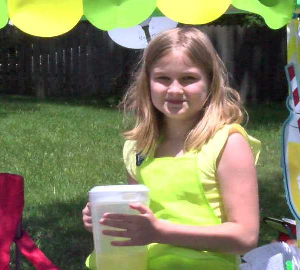 Emmy's lemonade stand in Austintown, Ohio