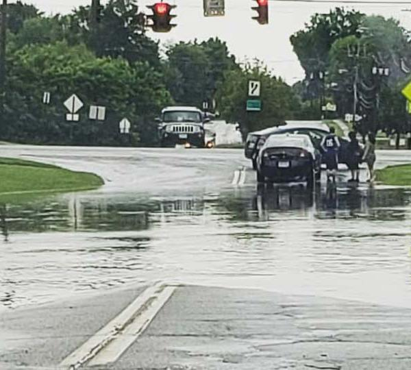 Flooded street in Boardman, Ohio, submitted by Josh S.