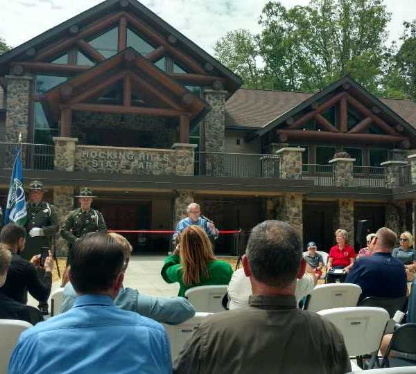 Opening of new Hocking Hills center (courtesy of WCMH)