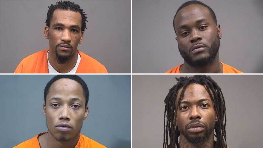 Kendal Dotson, Airik Talbott, Barry Wallace and Shawn Jones, charged in Operation Steel Penguin.