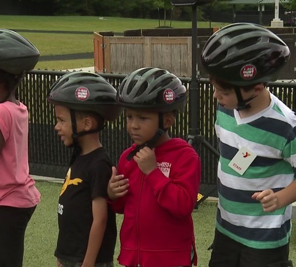 KNR hands out bike helmets in Youngstown, Ohio