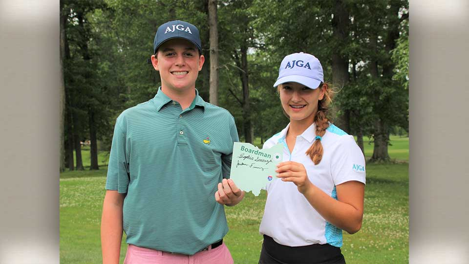 Two local competitors in the AJGA golf Championships.