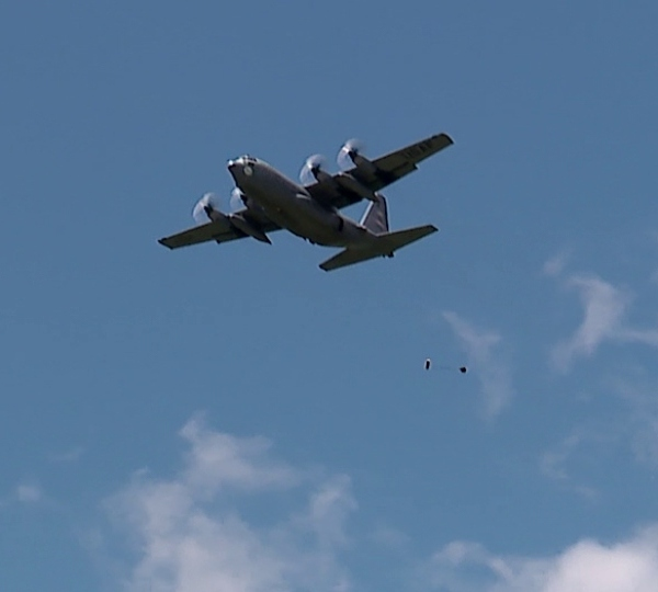 Paratrooper training at the Youngstown Air Reserve Station in Vienna