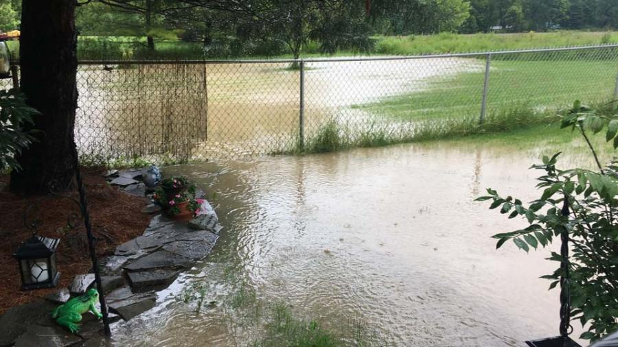 Field runoff flooding yard in Bristolville taken by Andrew