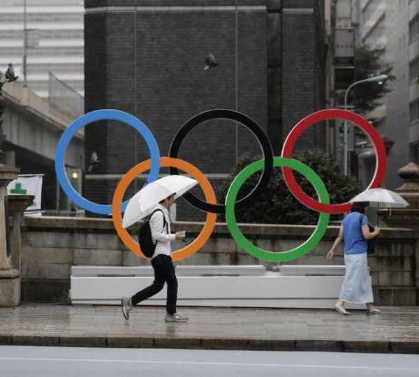 Olympic Rings in Tokyo 2019