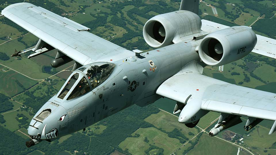 A-10 Thunderbolt Warthog, United States Air Force Plane.