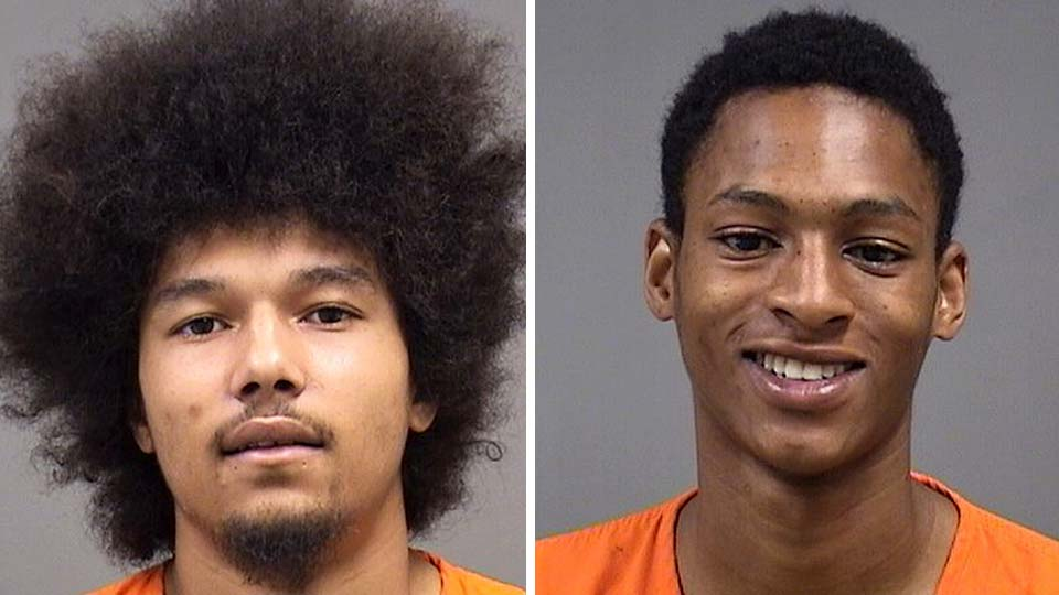 Bennie Poole and Nathaniel Carter, charged with aggravated robbery in Youngstown.