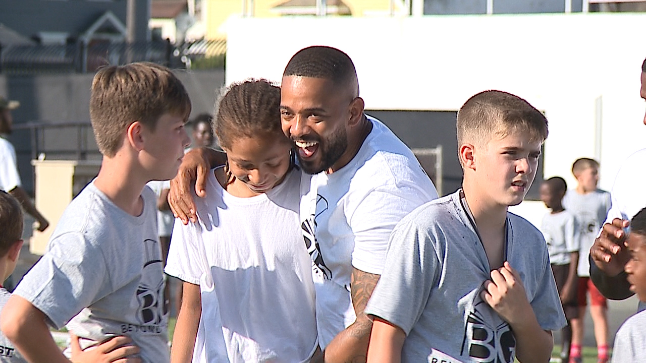 """Herron's first youth football camp a """"Boom""""ing success at Warren Harding"""