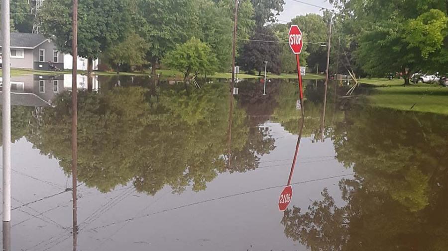 Flagler Lane flooding in Boardman