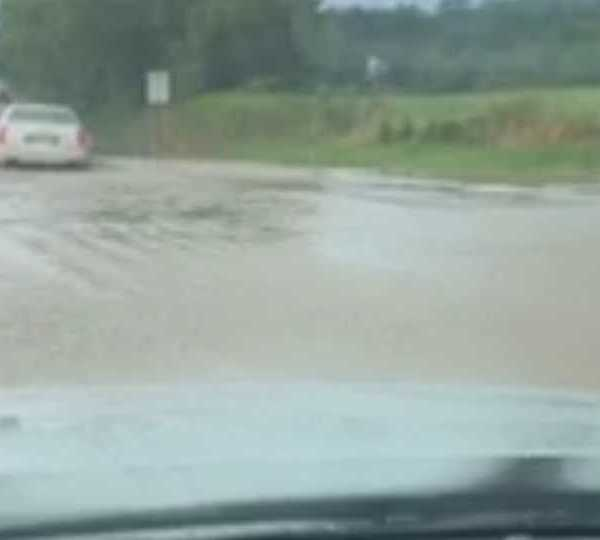 Flooding on Beard Road in Springfield Township