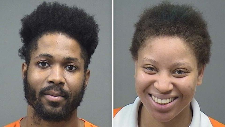 James Brown and Shaina Bell, charged with domestic violence in Youngstown.