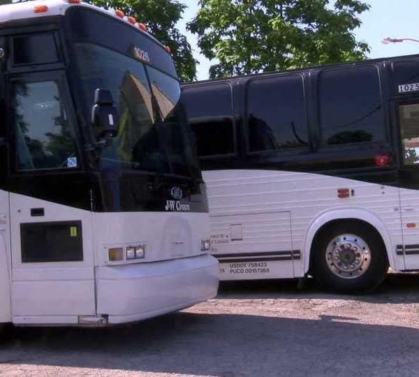 J&W Coachline buses