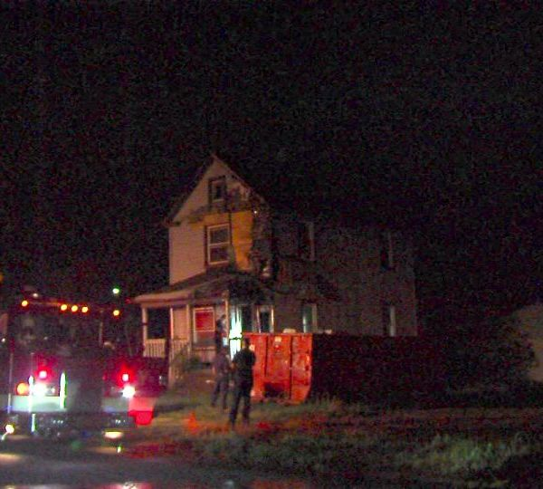 A house caught fire on Midland Ave. in Youngstown, Ohio